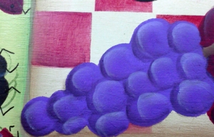 highlights on grapes