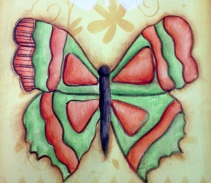 outline large butterfly