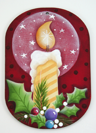 Candle Glow Oval Ornament